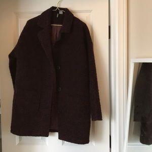 H&M wool coat Burgundy